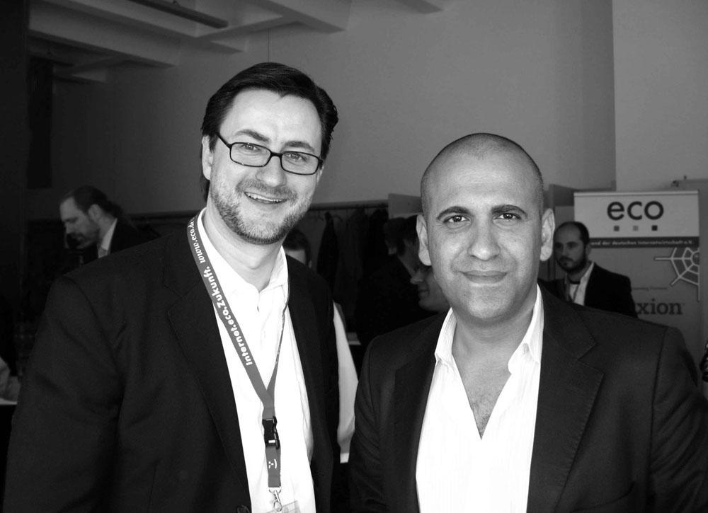 Dr. Nikolai A. Behr & Ibrahim Evsan auf dem Cologne Web Content Forum