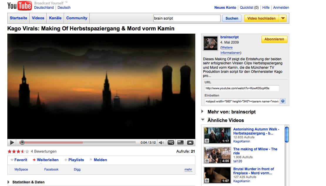 YouTube, Platzhirsch unter den Videoportalen