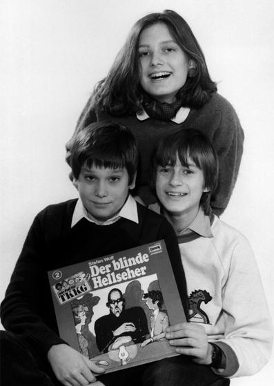 Veronika Neugebauer 1982 mit TKKG-Kollegen Manou Lubowski und Niki Nowotny. Foto: Chris Nowotny