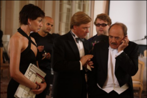 Filmszene: Christiane Paul, Justus von Dohnanyi und Bruno Ganz als Kater