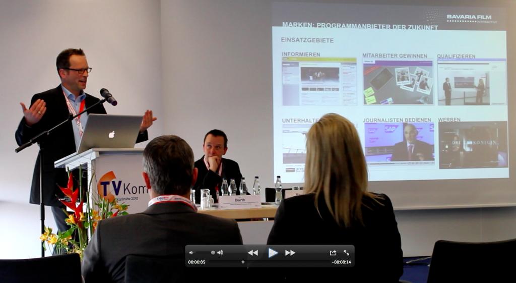 Lars Reckmann, Bavaria Film Interactive auf der TV Komm.